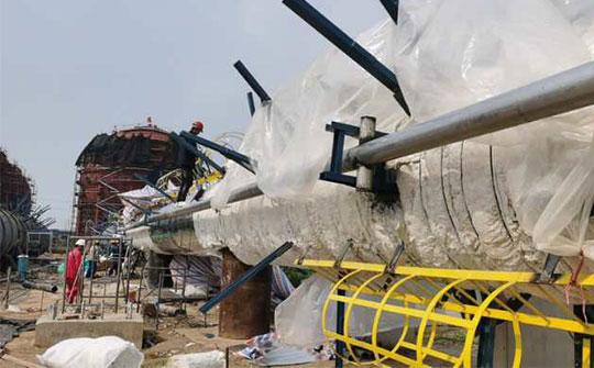 华泰30余台塔器助力丙烷脱氢项目开展